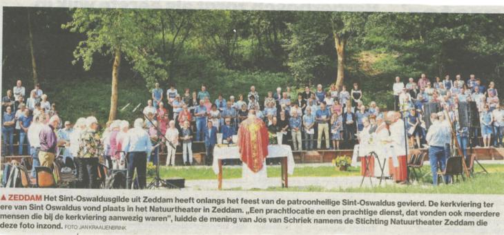 In het nieuws: Kerkdienst in het natuurtheater